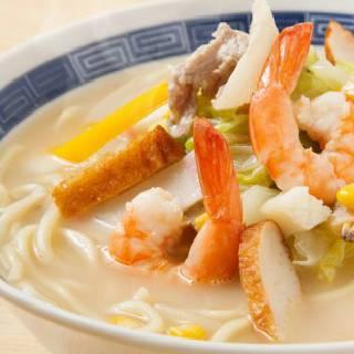 塩白湯ちゃんぽん麺♪