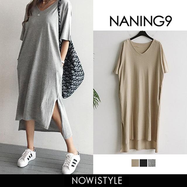 【NANING9】Tシャツロングワンピース