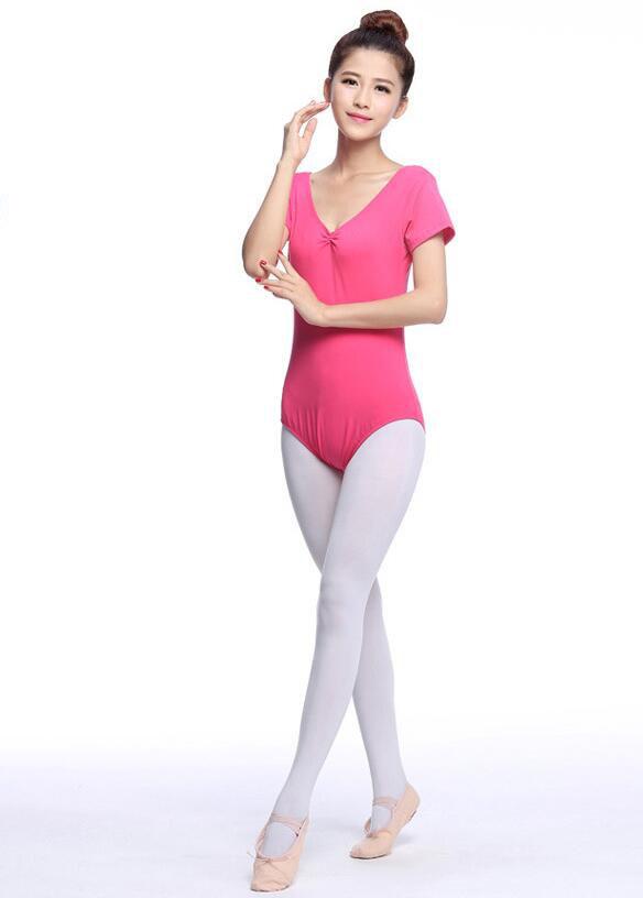 バレエ用 半袖レオタード ヨガ体操ダンス スカート