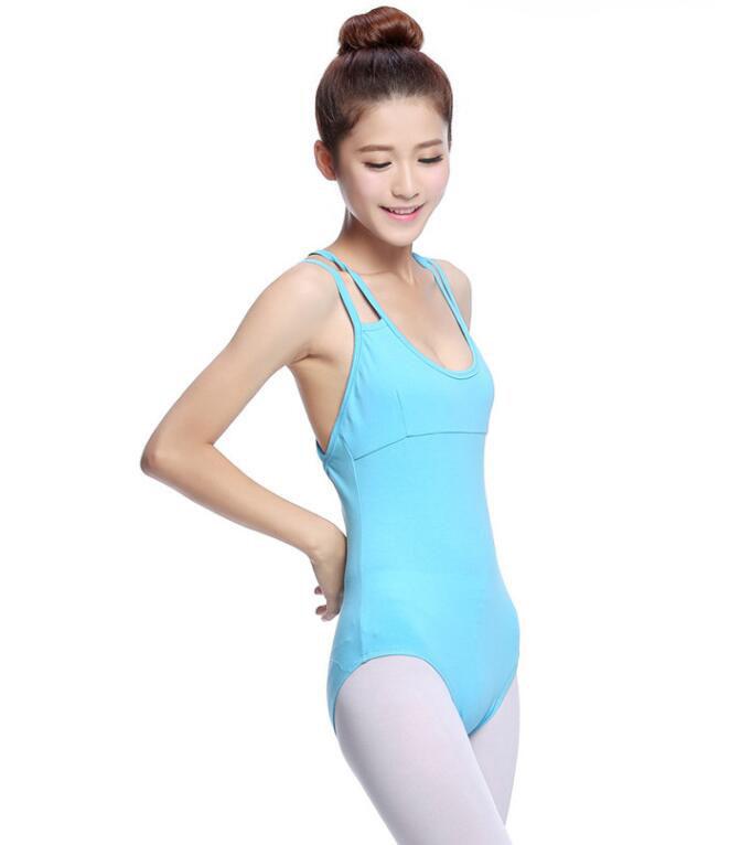 バレエ用 レオタード ヨガ体操ダンス スカート ブルー