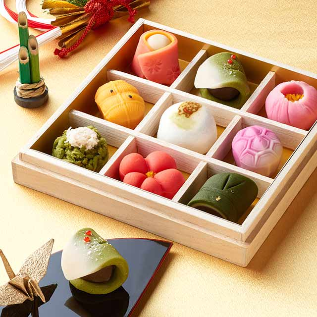 京の上生菓子9種桐箱入り「京菓子おせち」