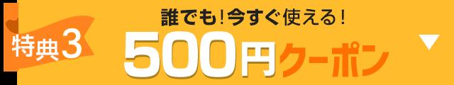 特典3 誰でも!今すぐ使える500円クーポン