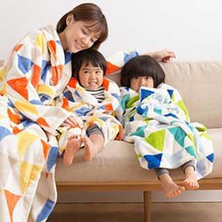 着る毛布で快適に冬越し