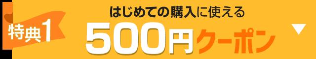 特典1 はじめての購入に使える500円クーポン