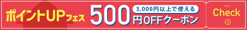 先着利用順!3,000円以上で使える500円OFFクーポンはコチラ