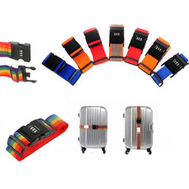 ワンタッチ式 スーツケースベルト2個セット