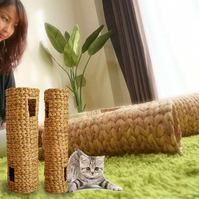 天然素材!ネコほっこりトンネルLサイズ