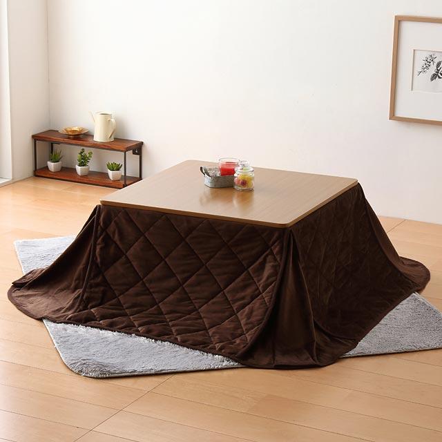 折れ脚こたつテーブル+こたつ布団セット