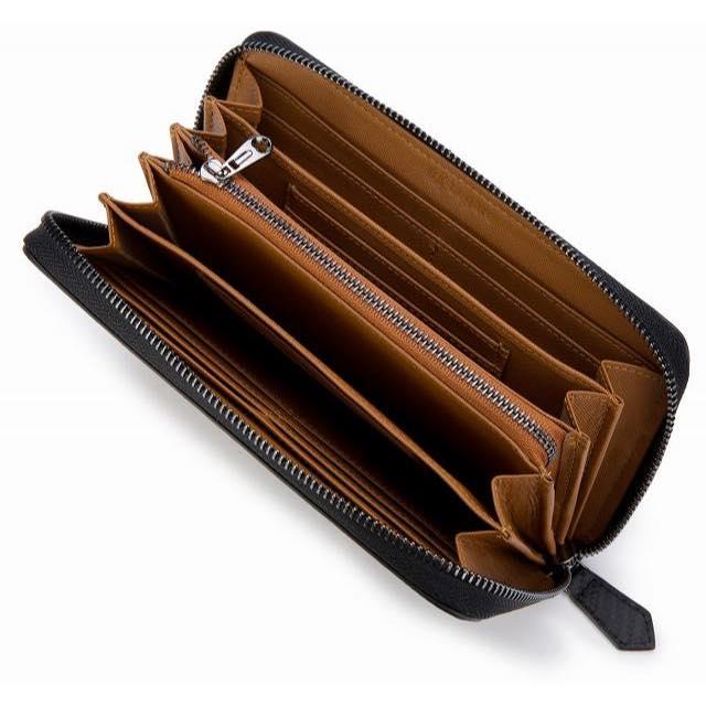 長財布 カーボンレザー カード18枚収納