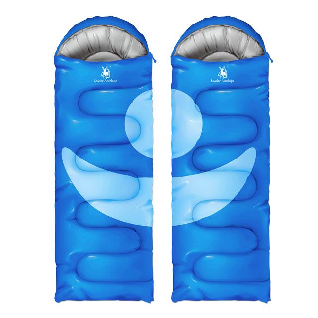 寝袋 封筒型 -5度 連結可能 温度調節も簡単