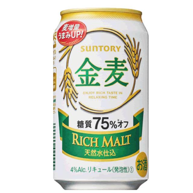 サントリー金麦糖質75%オフ350ml×2ケース
