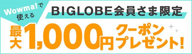 BIGLOBE接続コース会員様限定!最大1,000円OFFクーポンプレゼント!