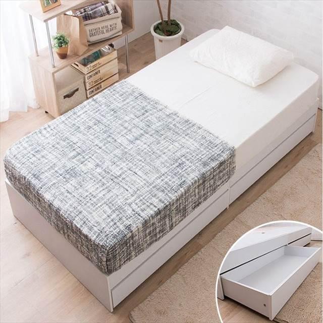[シングル]ヘッドレス収納ベッド